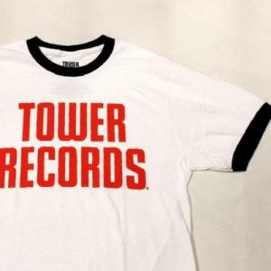 TOWER RECORDS / LOGO Print Ringer Tee