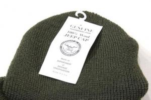 US Military / DeadStock Wool Jeep Cap_Olive