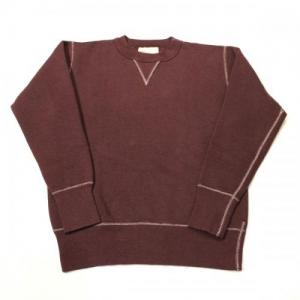 TWO MOON / no.92022 Sweat Shirt_Maroon