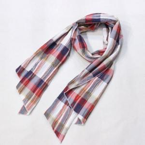 EngineeredGarments / Long Scarf_Crepe Check