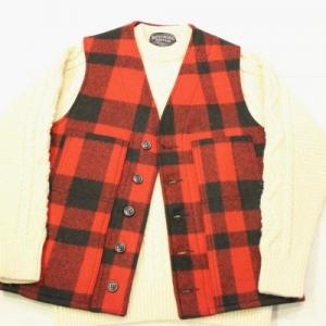 FILSON U.S.A. / Mackinaw Wool Vest_RED×BLACK