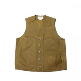FILSON U.S.A. / Oil Tin Cloth Vest_Dark Tan