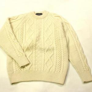 RICHMOND KNITWEAR / Aran Crewneck  Sweater