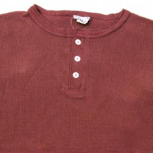 WALLA WALLA SPORT / LS Thermal Henley Neck T-Shirt